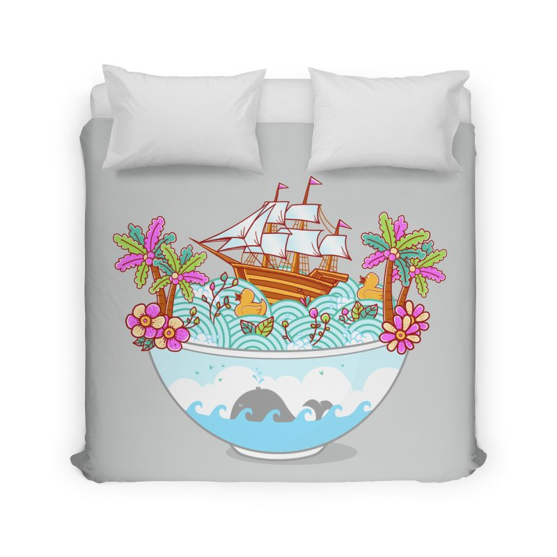Ocean Adventure Ramen Home Duvet by godzillarge's Artist Shop