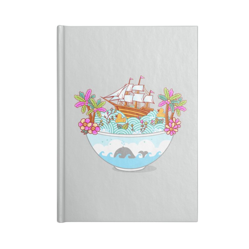 Ocean Adventure Ramen Accessories Notebook by godzillarge's Artist Shop