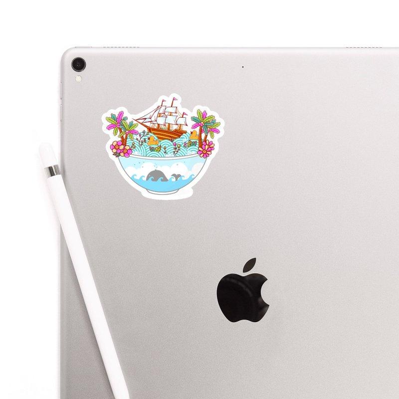 Ocean Adventure Ramen Accessories Sticker by godzillarge's Artist Shop