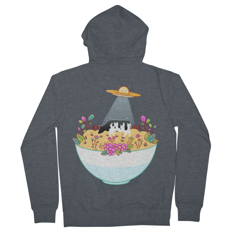 Kidnapped During Ramen Trip Men's French Terry Zip-Up Hoody by godzillarge's Artist Shop