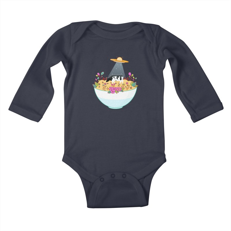 Kidnapped During Ramen Trip Kids Baby Longsleeve Bodysuit by godzillarge's Artist Shop