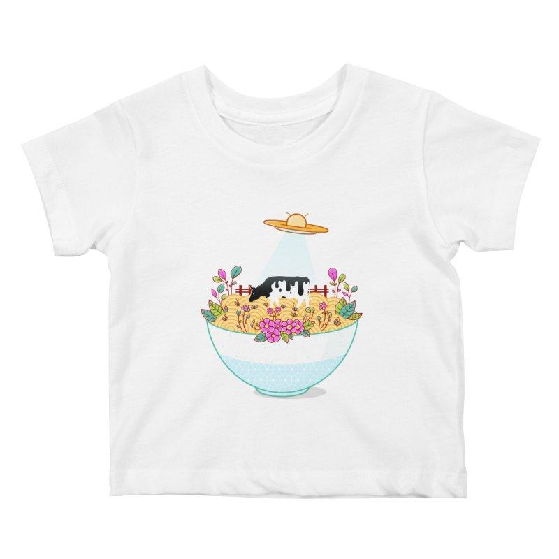 Kidnapped During Ramen Trip Kids Baby T-Shirt by godzillarge's Artist Shop