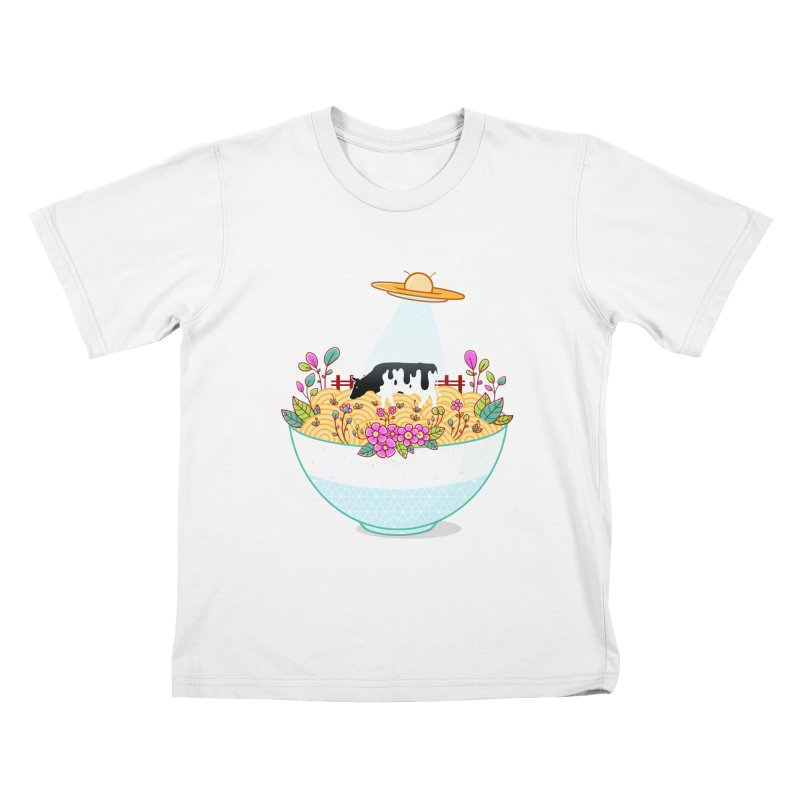 Kidnapped During Ramen Trip Kids T-Shirt by godzillarge's Artist Shop