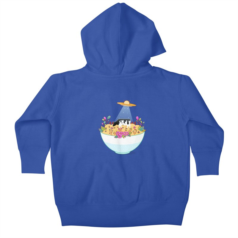 Kidnapped During Ramen Trip Kids Baby Zip-Up Hoody by godzillarge's Artist Shop
