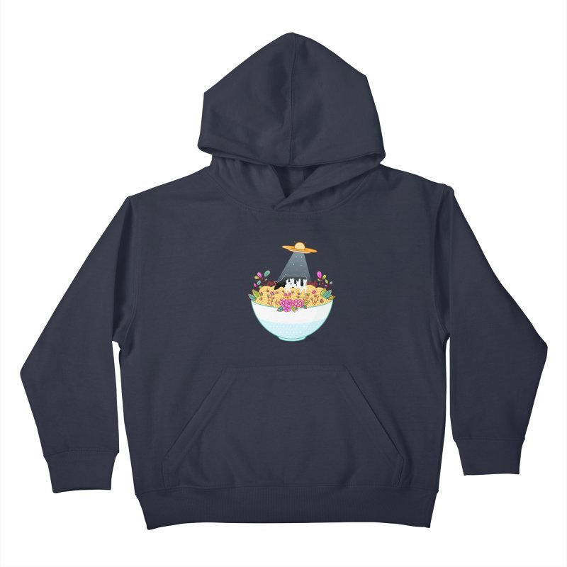 Kidnapped During Ramen Trip Kids Pullover Hoody by godzillarge's Artist Shop