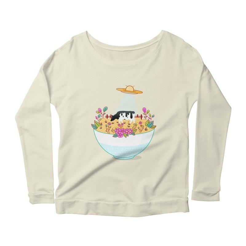 Kidnapped During Ramen Trip Women's Scoop Neck Longsleeve T-Shirt by godzillarge's Artist Shop
