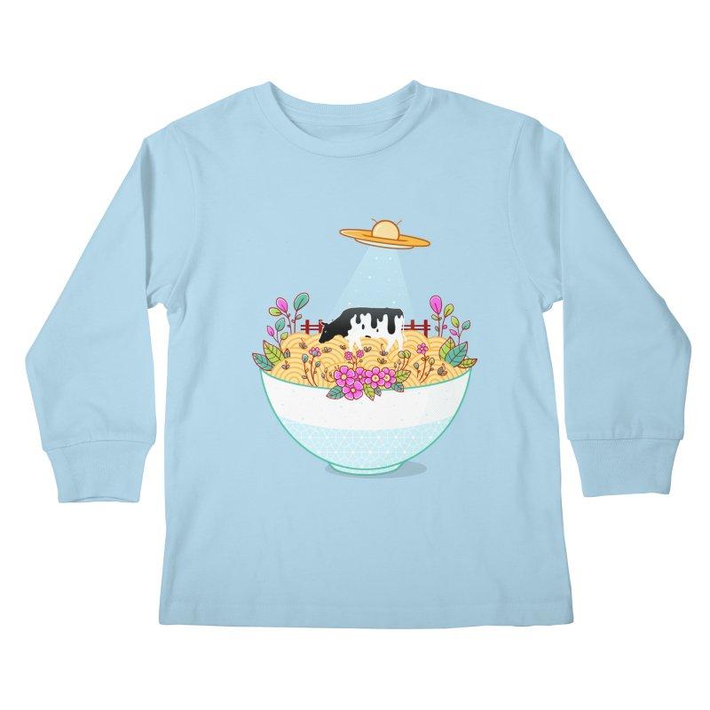 Kidnapped During Ramen Trip Kids Longsleeve T-Shirt by godzillarge's Artist Shop