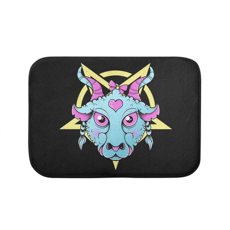 Cute Satanic Home Bath Mat by godzillarge's Artist Shop