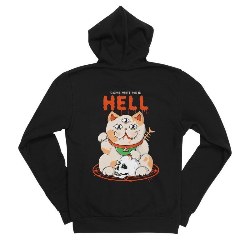 Come Visit Me In Hell Women's Sponge Fleece Zip-Up Hoody by godzillarge's Artist Shop