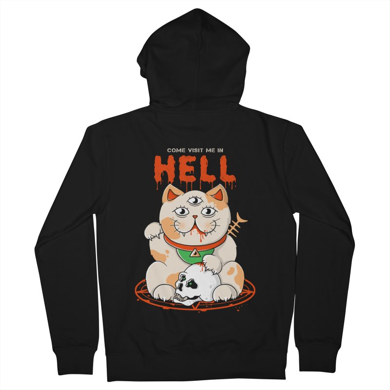 Come Visit Me In Hell Women's French Terry Zip-Up Hoody by godzillarge's Artist Shop