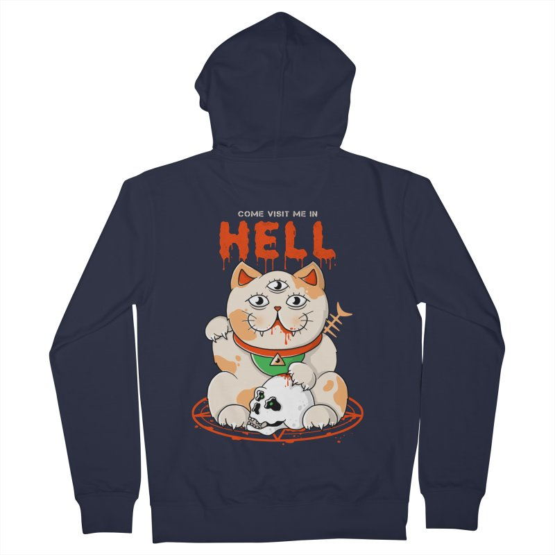 Come Visit Me In Hell Men's French Terry Zip-Up Hoody by godzillarge's Artist Shop