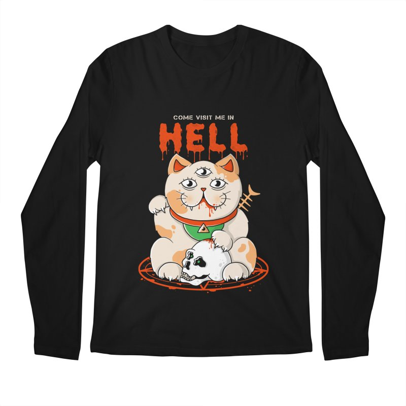 Come Visit Me In Hell Men's Regular Longsleeve T-Shirt by godzillarge's Artist Shop