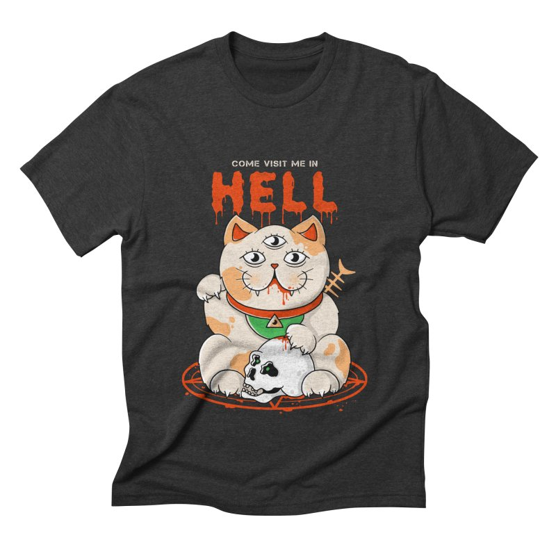 Come Visit Me In Hell Men's Triblend T-Shirt by godzillarge's Artist Shop