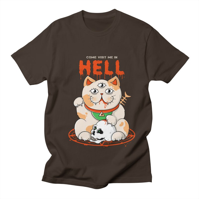 Come Visit Me In Hell Men's Regular T-Shirt by godzillarge's Artist Shop
