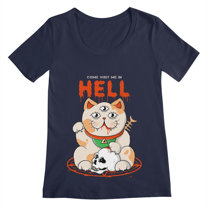 Come Visit Me In Hell Women's Regular Scoop Neck by godzillarge's Artist Shop
