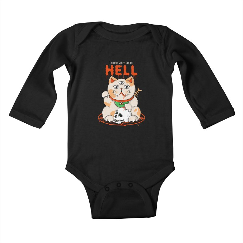 Come Visit Me In Hell Kids Baby Longsleeve Bodysuit by godzillarge's Artist Shop