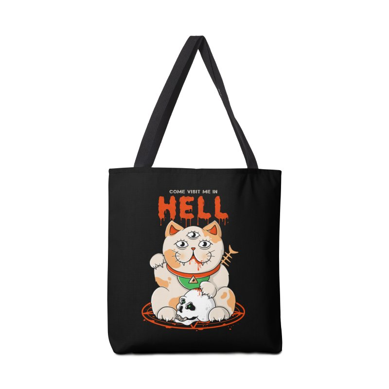 Come Visit Me In Hell Accessories Bag by godzillarge's Artist Shop