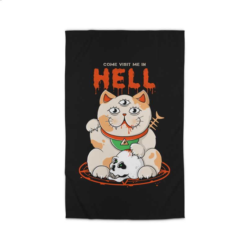 Come Visit Me In Hell Home Rug by godzillarge's Artist Shop