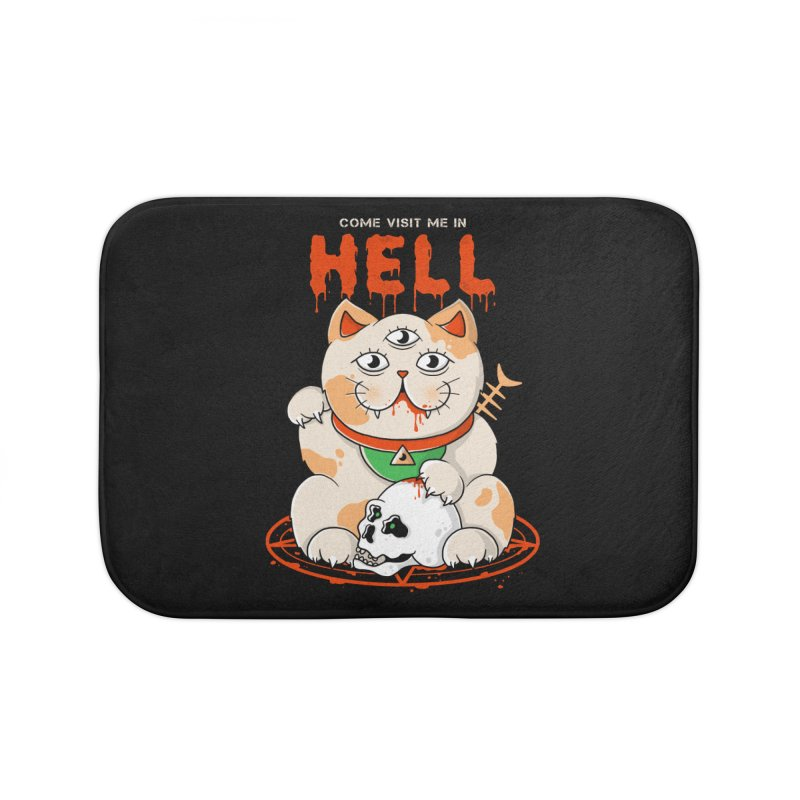 Come Visit Me In Hell Home Bath Mat by godzillarge's Artist Shop