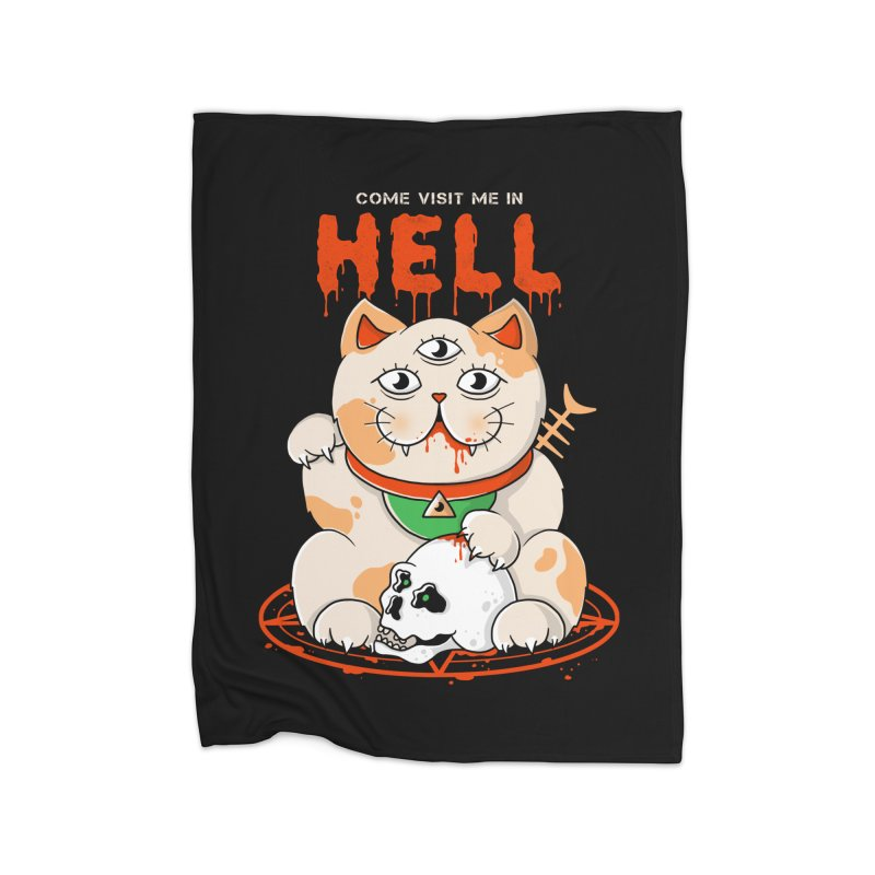 Come Visit Me In Hell Home Blanket by godzillarge's Artist Shop
