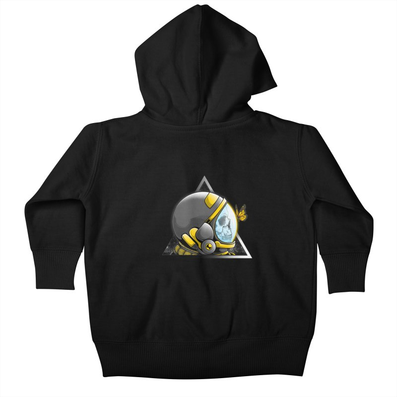 Hello Kids Baby Zip-Up Hoody by godzillarge's Artist Shop
