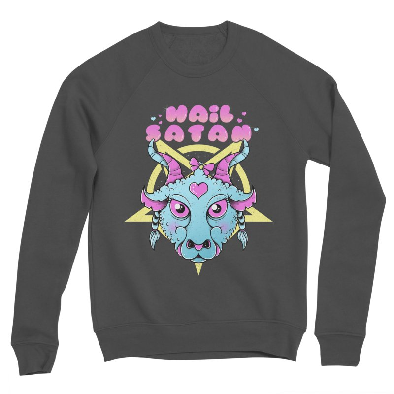 Hail Satan Men's Sponge Fleece Sweatshirt by godzillarge's Artist Shop