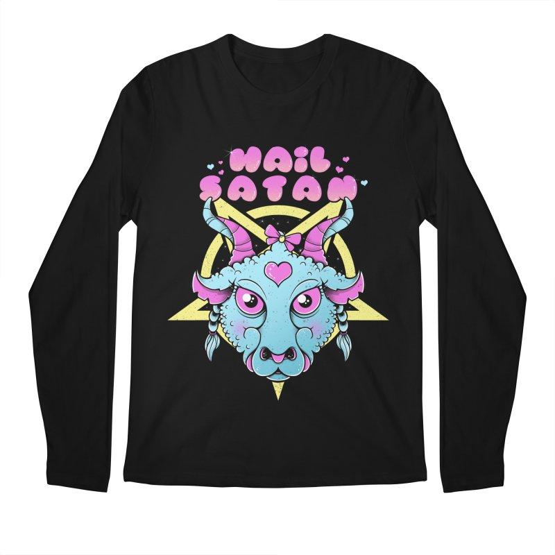 Hail Satan Men's Regular Longsleeve T-Shirt by godzillarge's Artist Shop