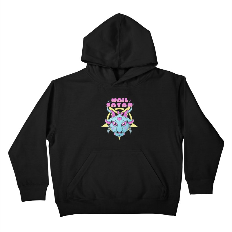Hail Satan Kids Pullover Hoody by godzillarge's Artist Shop