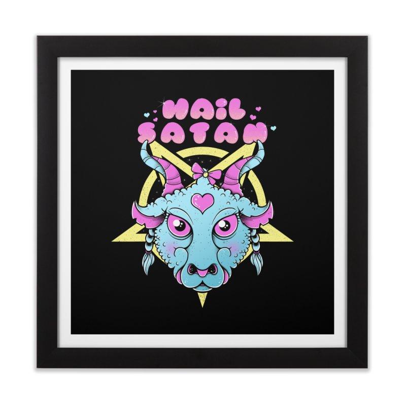 Hail Satan Home Framed Fine Art Print by godzillarge's Artist Shop