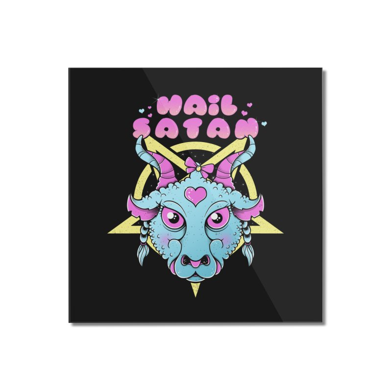 Hail Satan Home Mounted Acrylic Print by godzillarge's Artist Shop