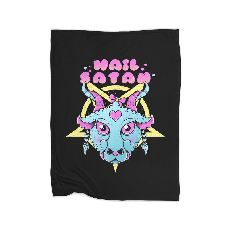 Hail Satan Home Blanket by godzillarge's Artist Shop