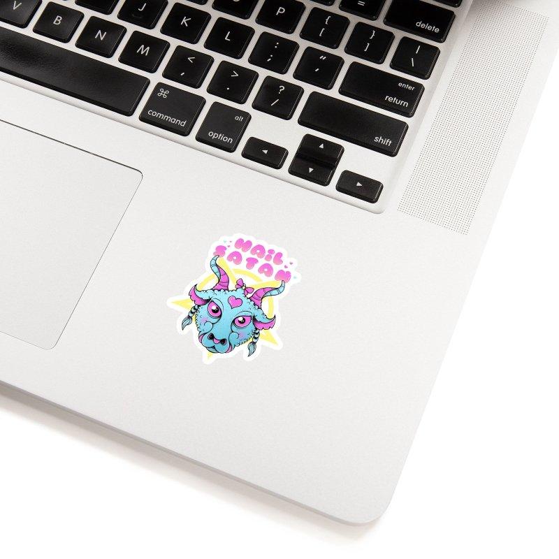 Hail Satan Accessories Sticker by godzillarge's Artist Shop