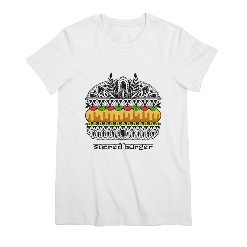Sacred Burger Women's Premium T-Shirt by godzillarge's Artist Shop