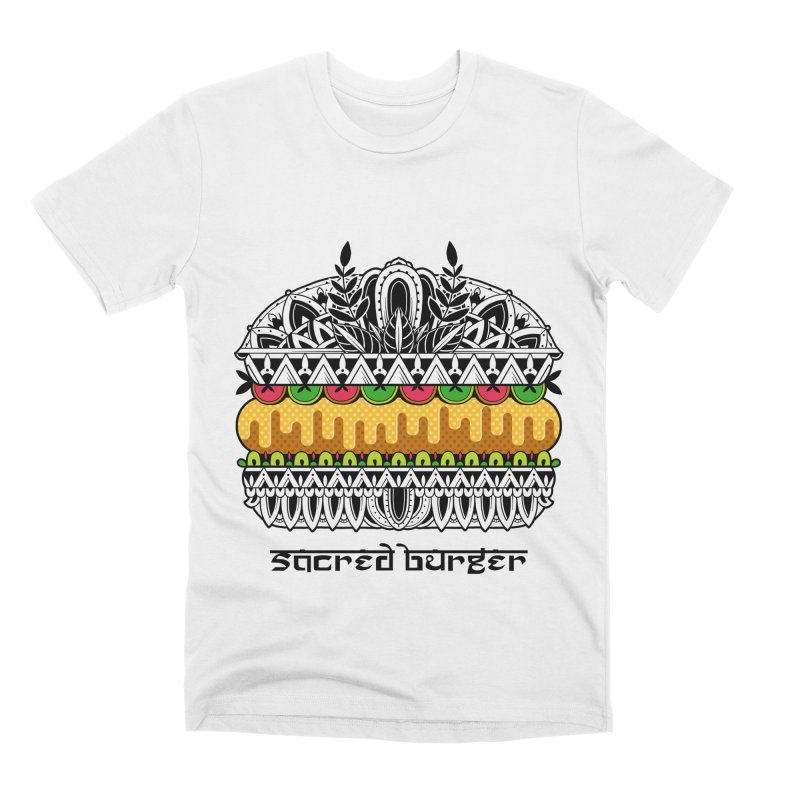 Sacred Burger Men's Premium T-Shirt by godzillarge's Artist Shop