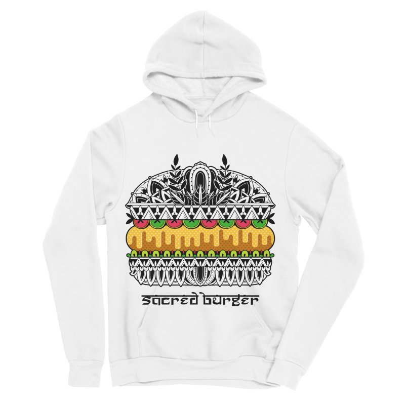 Sacred Burger Men's Sponge Fleece Pullover Hoody by godzillarge's Artist Shop