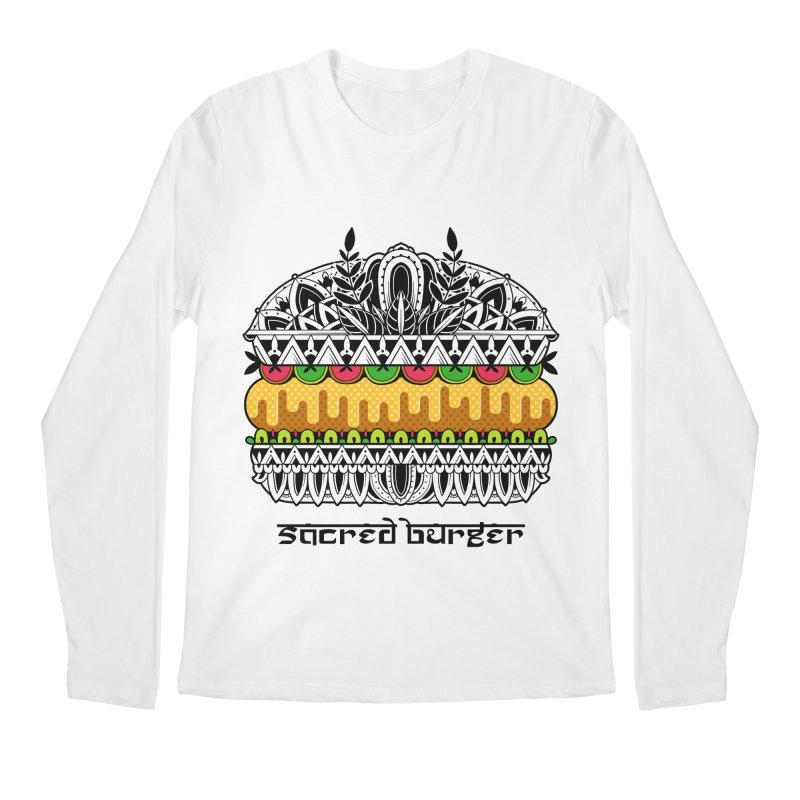 Sacred Burger Men's Regular Longsleeve T-Shirt by godzillarge's Artist Shop