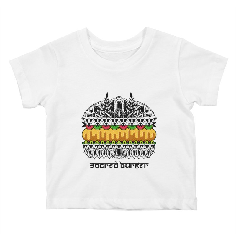 Sacred Burger Kids Baby T-Shirt by godzillarge's Artist Shop