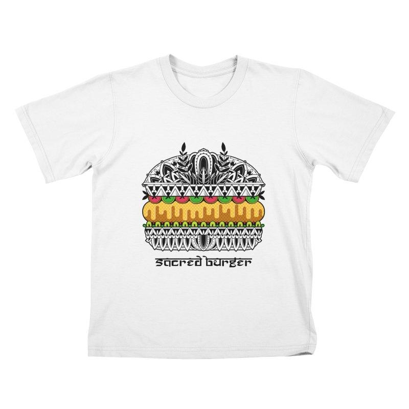 Sacred Burger Kids T-Shirt by godzillarge's Artist Shop