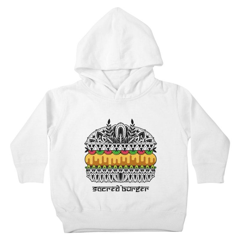 Sacred Burger Kids Toddler Pullover Hoody by godzillarge's Artist Shop