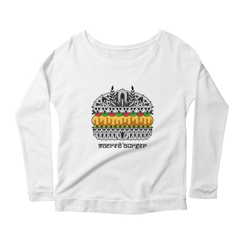 Sacred Burger Women's Scoop Neck Longsleeve T-Shirt by godzillarge's Artist Shop