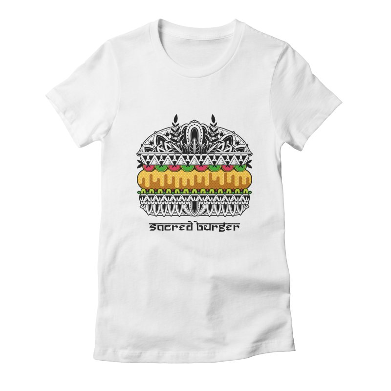 Sacred Burger Women's Fitted T-Shirt by godzillarge's Artist Shop
