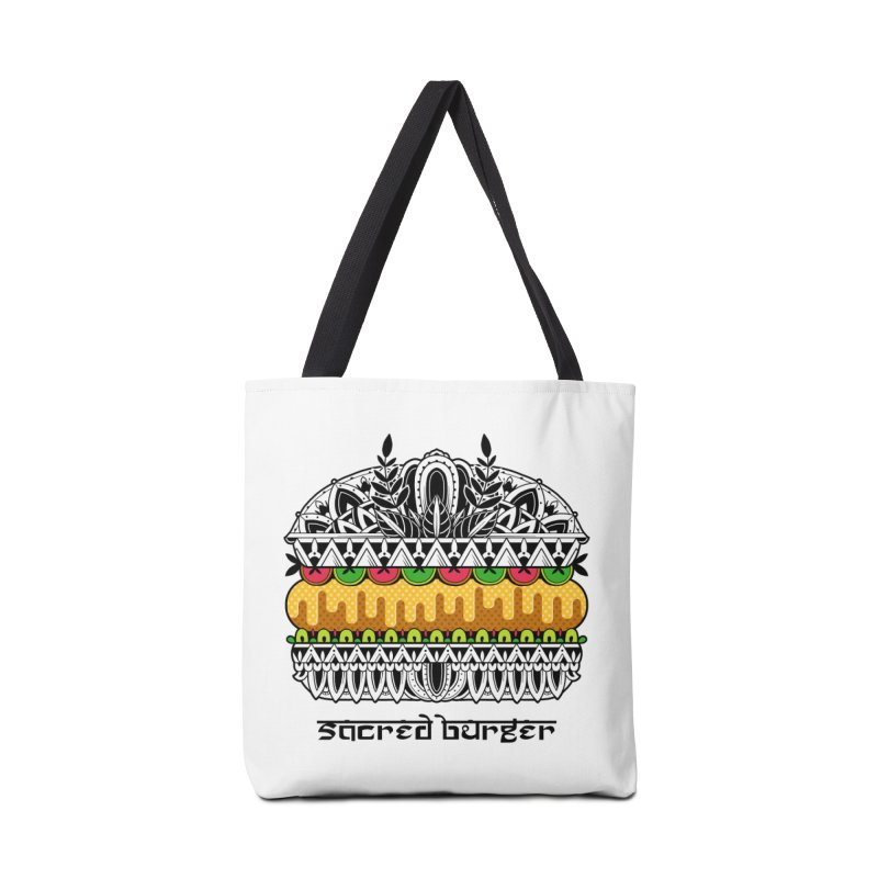 Sacred Burger Accessories Tote Bag Bag by godzillarge's Artist Shop