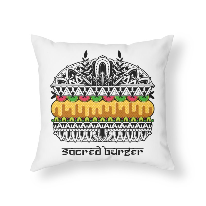 Sacred Burger Home Throw Pillow by godzillarge's Artist Shop