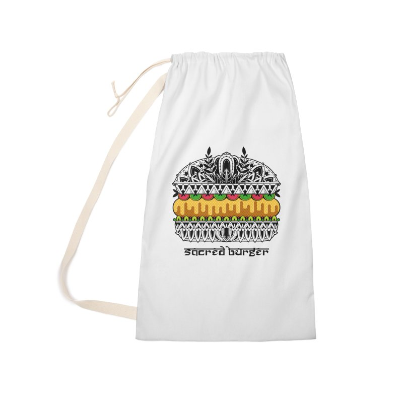Sacred Burger Accessories Laundry Bag Bag by godzillarge's Artist Shop