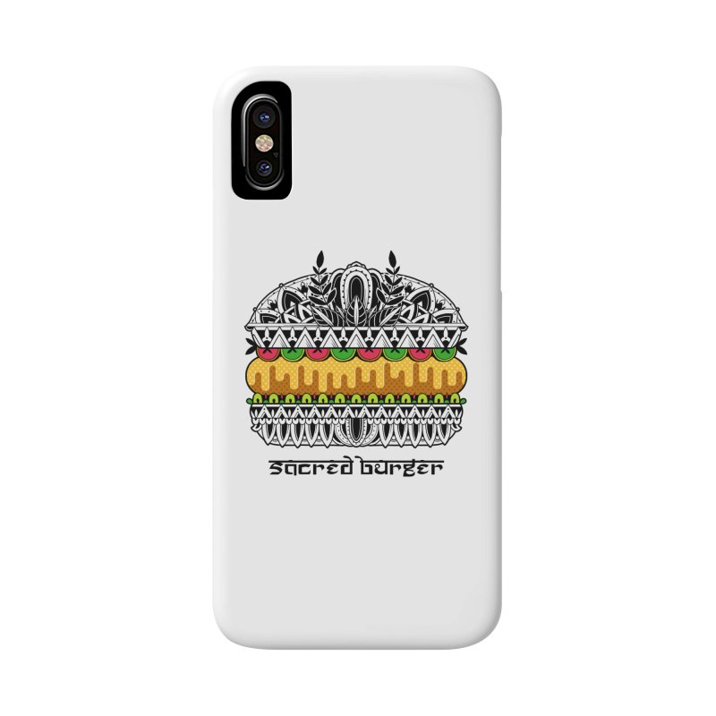 Sacred Burger Accessories Phone Case by godzillarge's Artist Shop