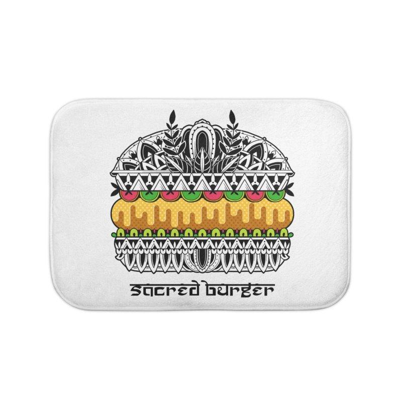 Sacred Burger Home Bath Mat by godzillarge's Artist Shop