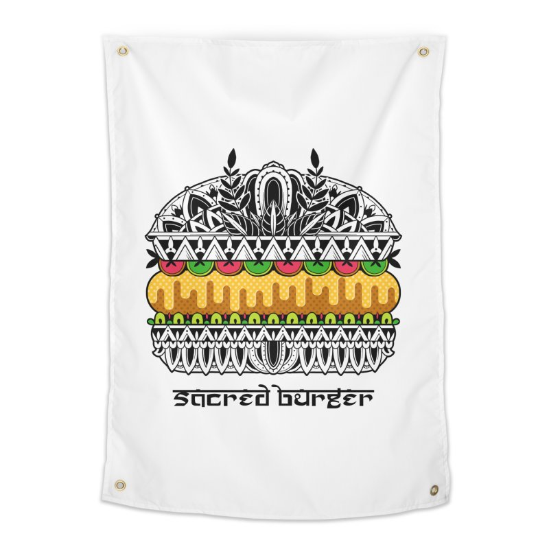 Sacred Burger Home Tapestry by godzillarge's Artist Shop