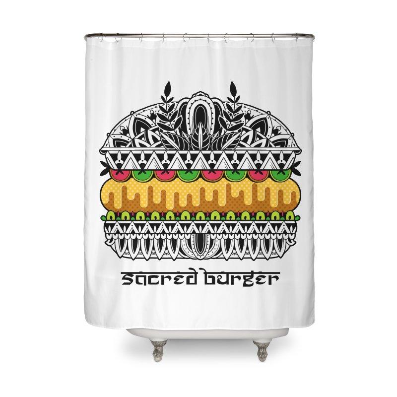 Sacred Burger Home Shower Curtain by godzillarge's Artist Shop