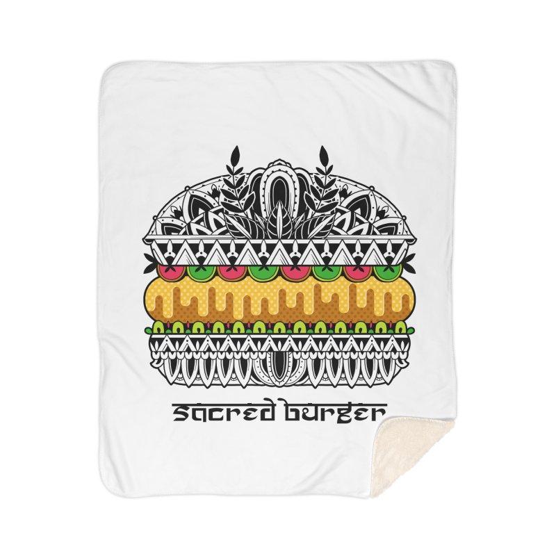 Sacred Burger Home Sherpa Blanket Blanket by godzillarge's Artist Shop