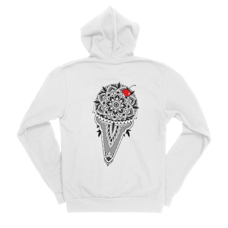 Sacred Ice Cream Women's Sponge Fleece Zip-Up Hoody by godzillarge's Artist Shop